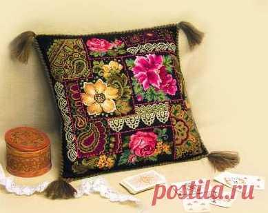 Вышивка подушек крестиком - запись пользователя Марина в сообществе Вышивка в категории Схемы вышивки крестом, вышивка крестиком