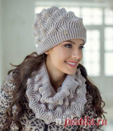 Комплект шапка и снуд красивым узором » Ниткой - вязаные вещи для вашего дома, вязание крючком, вязание спицами, схемы вязания