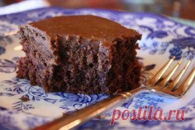 Шоколадный кекс с глазурью - patee.ru
