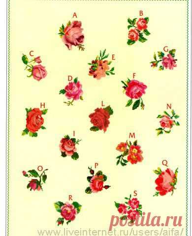 Мини розы 17 Вышивка крестом, схемы