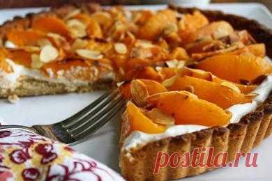 Тарт с абрикосами и миндалем - patee.ru