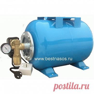 Насосная установка водоснабжения АкваЛив БНУ-24Г с доставкой по России. Для водоснабжения частного дома, дачи - в самостоятельно в домашних условиях. При наличии гидроаккумулятора и насоса. Насос может быть поверхностным или погружным (водяной, глубинный).