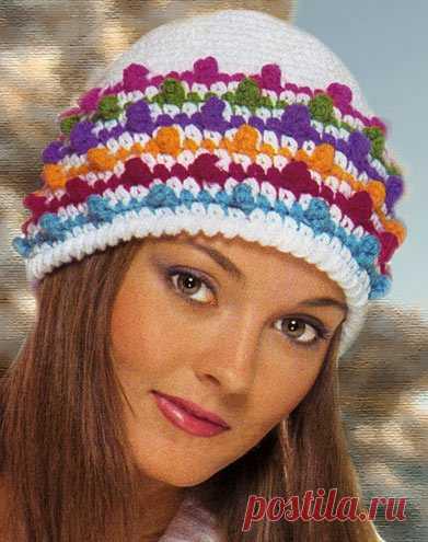 4933734290d0 Яркая Зима — вязаная зимняя шапка крючком | ВЯЗАНИЕ ШАПОК: женские ...