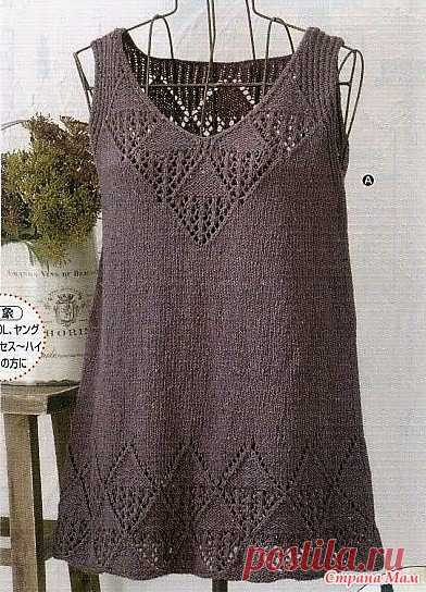 Tunic with openwork. Spokes. - KNITTED FASHION + FOR NOT MODEL LADIES - the Country of Mothers
