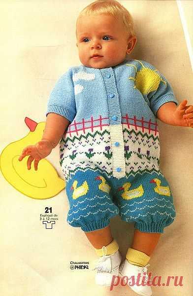 Жаккард на малыша.