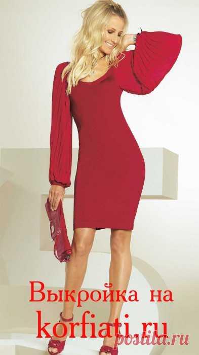 Выкройка трикотажного платья с рукавами – плиссе — 7 ответов на Babyblog
