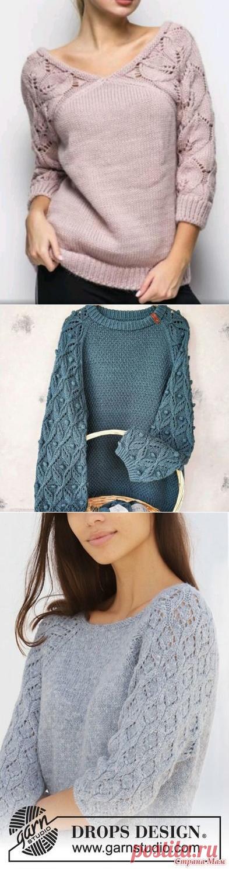 Пуловеры спицами с акцентом на рукавах. | Копилка узоров (Вязание спицами) | Яндекс Дзен