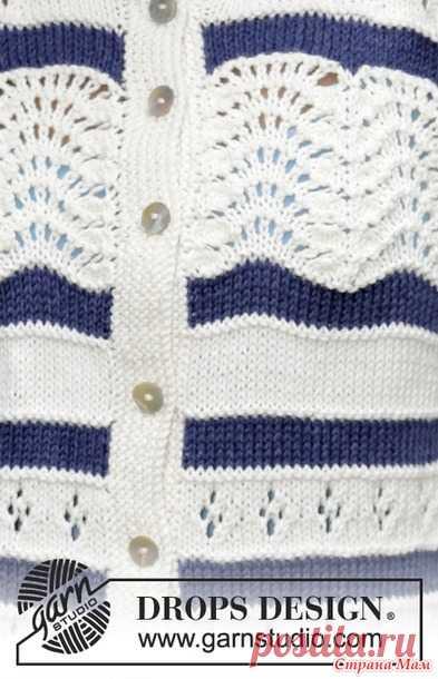 Кардиган и пуловер в морском стиле с волнистым узором. Дропс. - Вязание - Страна Мам