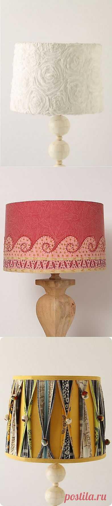 Текстильные лампы Anthropologie (подборка) / Освещение / Модный сайт о стильной переделке одежды и интерьера