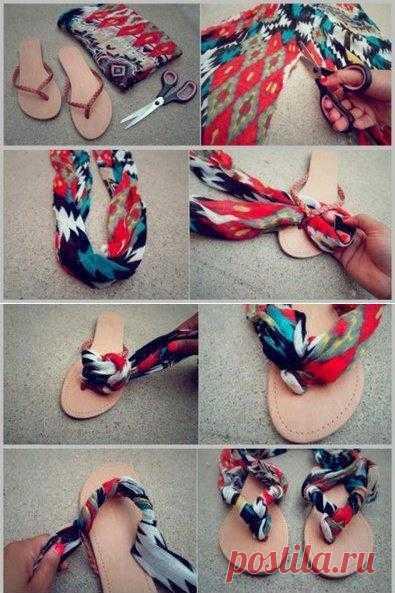 Вьетнамки превращаются в креативные сандалии. Переделки своими руками