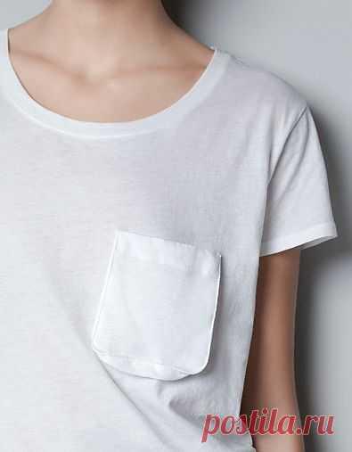 Необычный кармашек / Футболки DIY / Модный сайт о стильной переделке одежды и интерьера