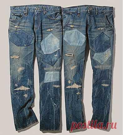 Заплаты на джинсах / Переделка джинсов / Модный сайт о стильной переделке одежды и интерьера