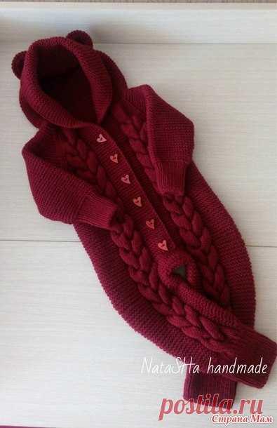 вязаный комбинезон мишка для прекрасной малышки вязание детям
