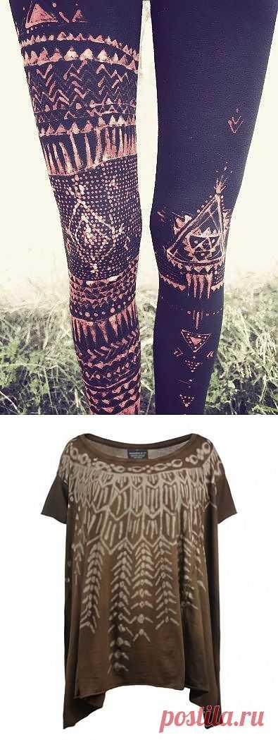Pintado legginsy y la camiseta \/ la Blancura \/ la SEGUNDA CALLE