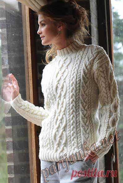 АРАНЫ! Пуловер с коротким воротником (ж) 30*159 BDF №2254