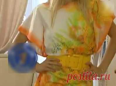Как сшить платье одним штрихом и разукрасить ткань