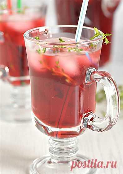 Напиток из каркаде и тимьяна!