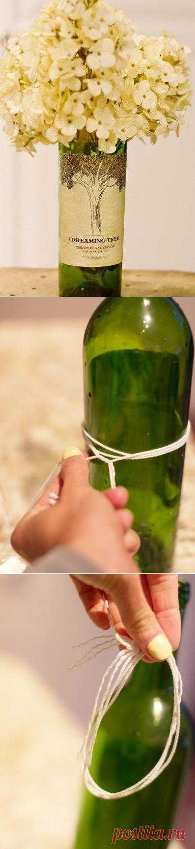 А бывало, что вам так понравилась бутылка для декора, да вот горлышко в ней мешает? Сегодня вы узнаете, как отрезать горлышко бутылки очень быстро и легко.