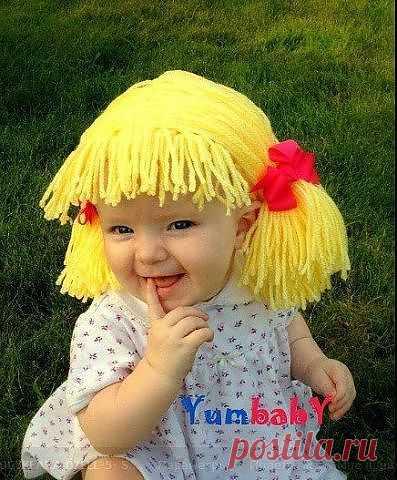 Шапочка-парик для девочки