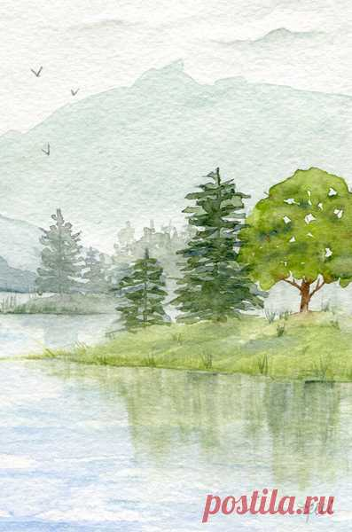 Painting Trees in Watercolor - Kelli McNichols Art This week we will be painting trees - the most important thing to remember is if they are part of a larger landscape there will not be a lot of detail.