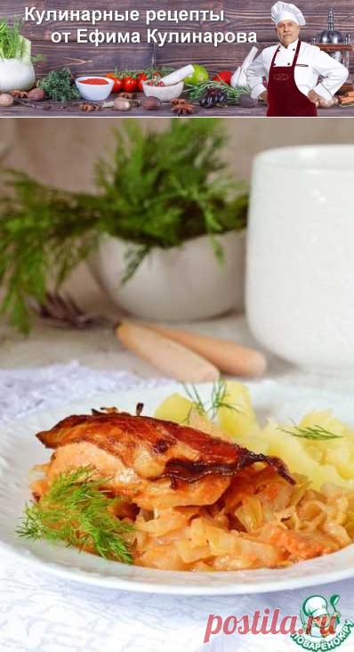 Куриные грудки, запеченные на молодой капусте   Вкусные кулинарные рецепты с фото и видео