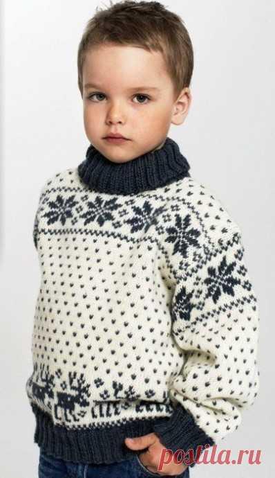 Узор для зимнего свитера - строим рукодельные планы на зиму! из категории Интересные идеи – Вязаные идеи, идеи для вязания