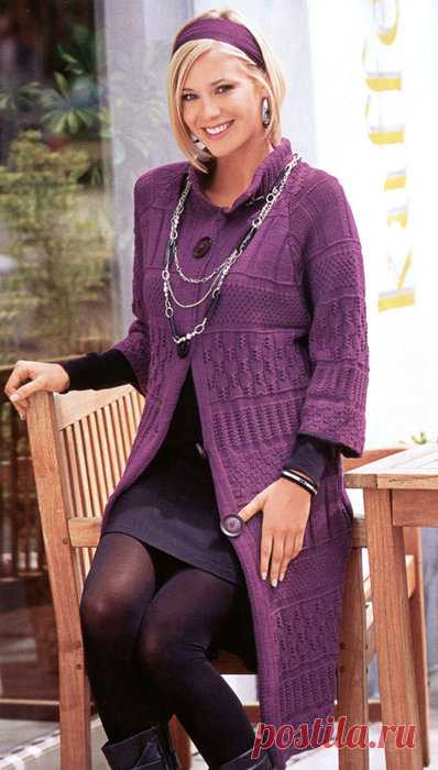 Knitted figured coat