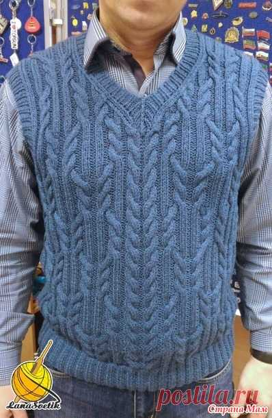 Men's vest spokes - Knitting - the Country of Mothers