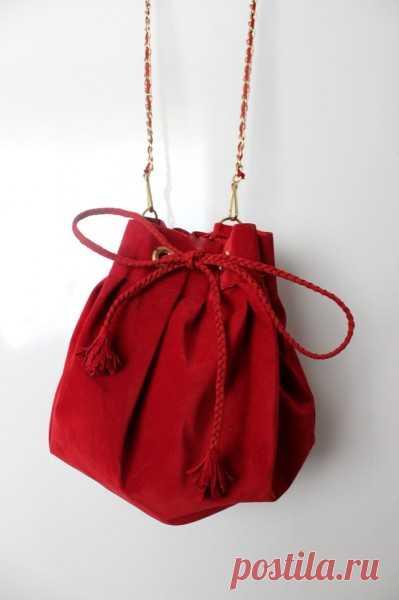 7373acabc3d5 Очаровательная сумка-мешок. МК | сумки шитые | Постила