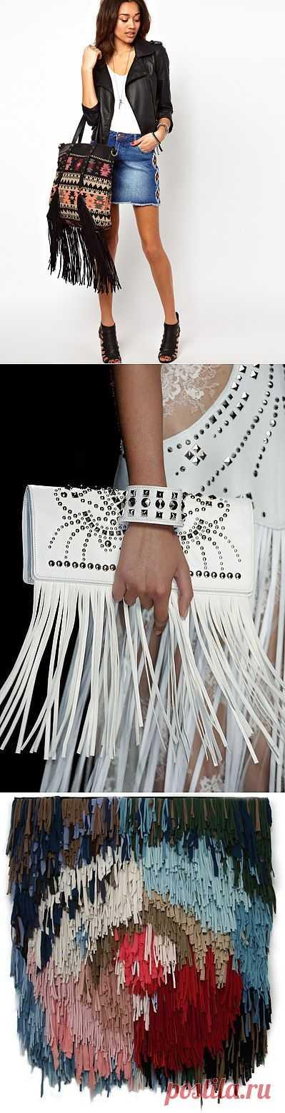 Бахрома: часть вторая: аксессуары, сумки и украшения / Аксессуары (не украшения) / Модный сайт о стильной переделке одежды и интерьера