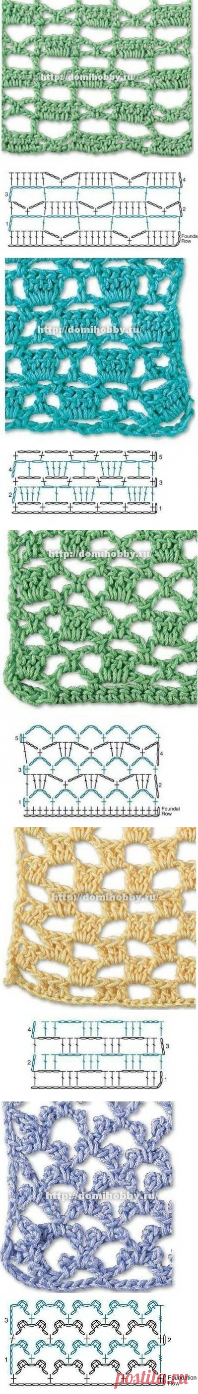 Узоры крючком для вязания летних вещей