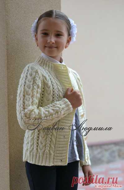 Вязаная кофта на пуговицах - Вязание - Страна Мам