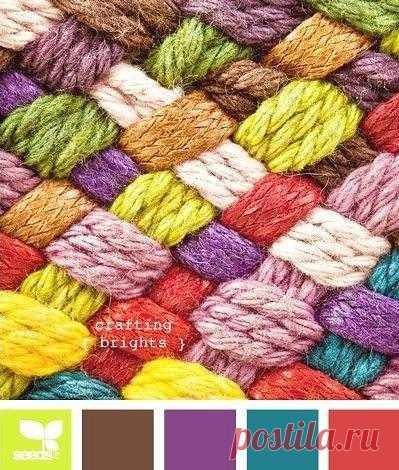 сочетания цветов для вязания вязаниекрючкомсхемывидеоурокисвет