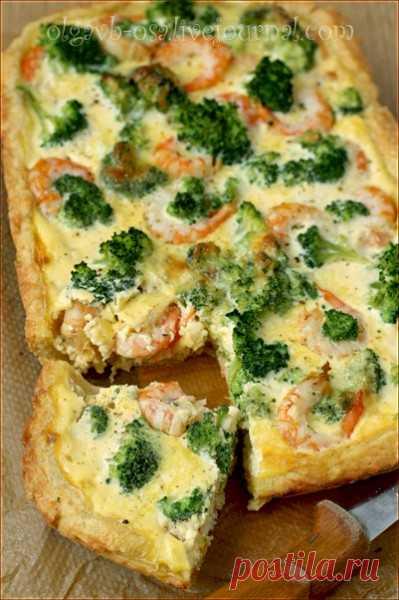 Сырный пирог с креветками и брокколи - Осиный домик — LiveJournal