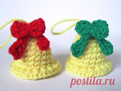 Crafteando, что это too: Шаблон: Колокольчики рождественские/ Pattern: Christmas bells