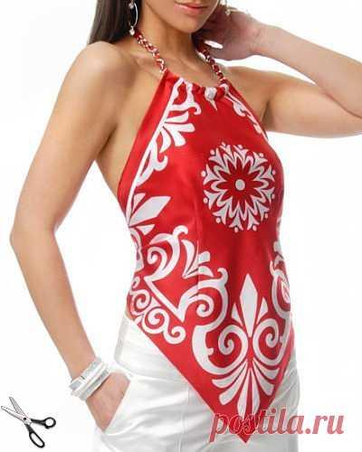 Эффектные летние сарафаны и топы шьем из платков — Делаем руками