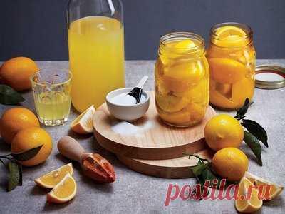 Лимонный ликер в домашних условиях - Напитки алкогольные