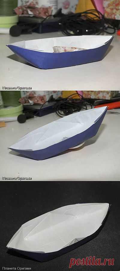 Лодка «Каноэ» из бумаги. Простые схемы