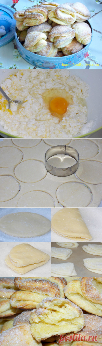For those who likes to cook cottage cheese cookies \/ Website with step-by-step recipes with a photo