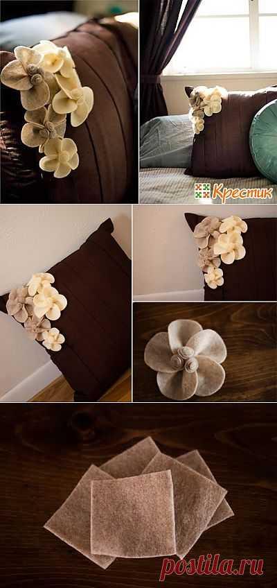 (+1) - Подушка с цветами: украсьте интерьер вашего дома | Хвастуны и хвастушки