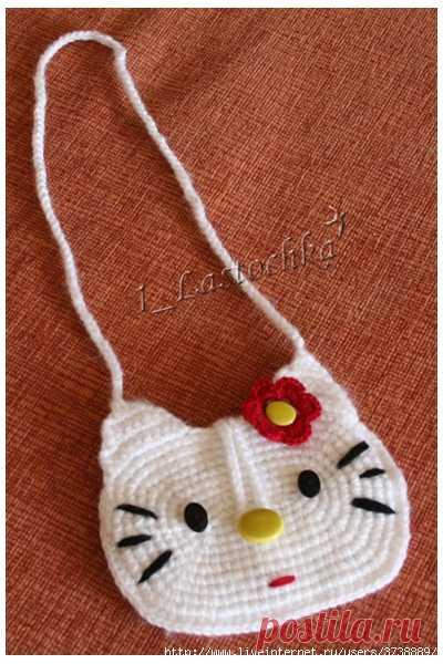 14aae057ee46 Сумочка для девочки крючком | Вязаные сумки | Постила
