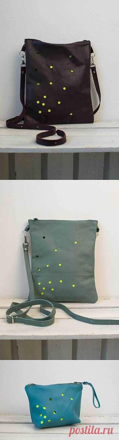 Кожа + дырокол = сумки с новой фактурой / Кожа / Модный сайт о стильной переделке одежды и интерьера