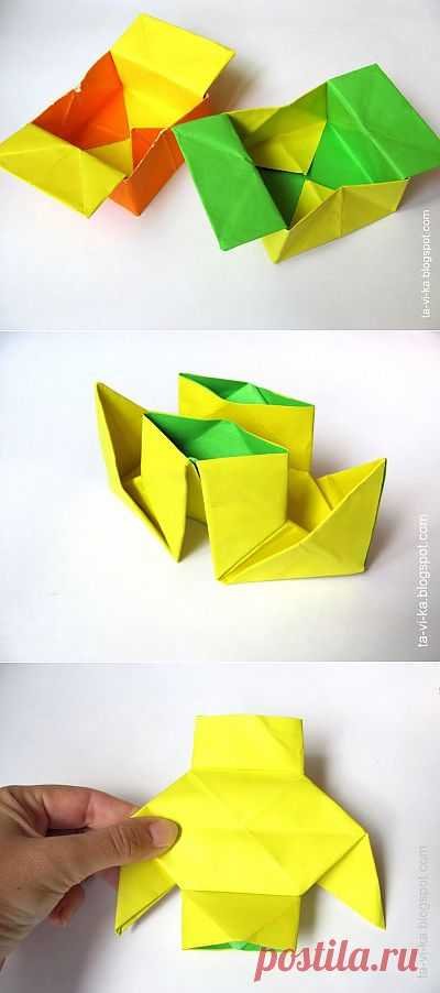 Сказка оригами про крестьянина.