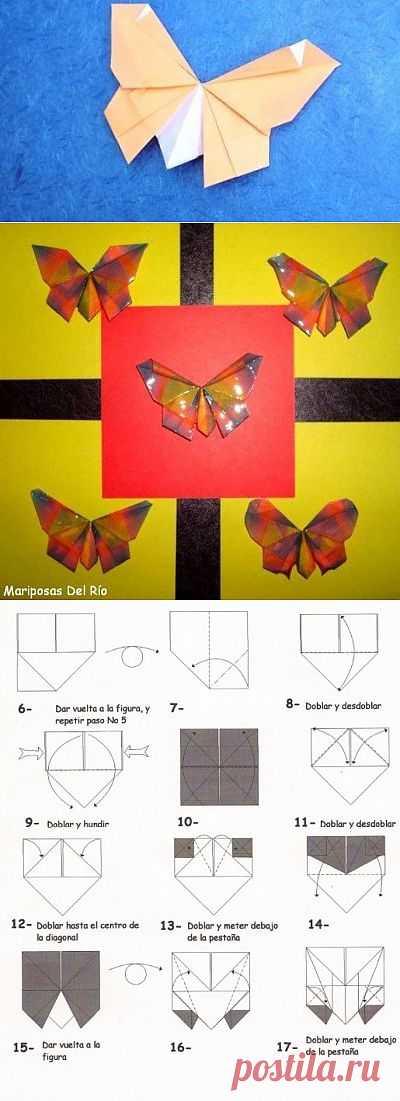 Бумажные бабочки по схеме Erny Del Rio