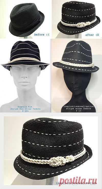 Вышитая шляпа (DIY) / Головные уборы / Модный сайт о стильной переделке одежды и интерьера
