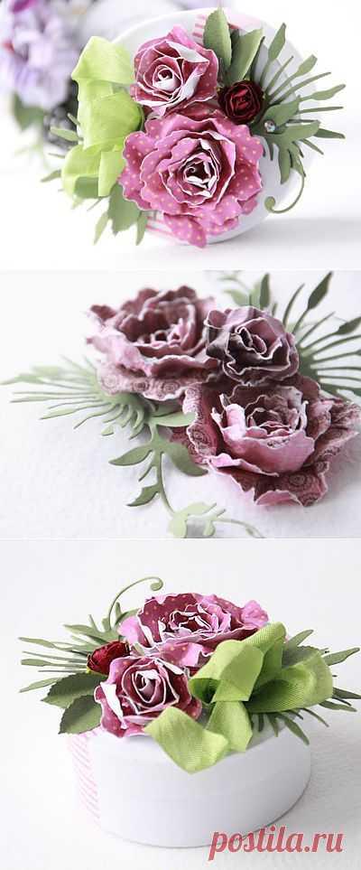 Спиральные скрап-цветы от Agnieszka. Мастер-класс.