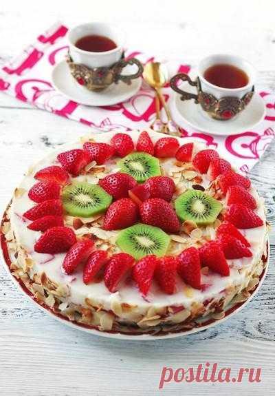 Тортик йогуртовый с киви и клубничкой | My Milady
