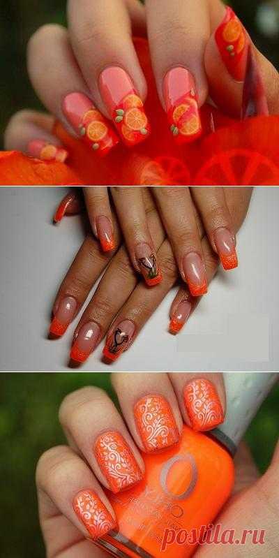 Самый модный цвет ногтей оранжевый - лето 2013