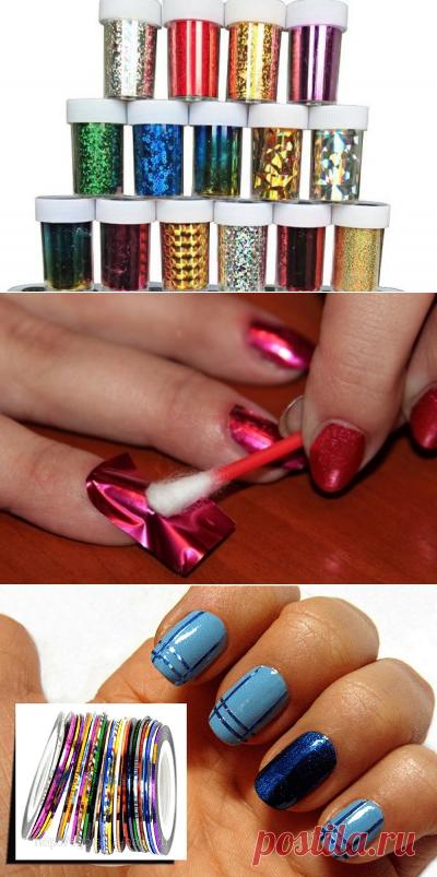 Как использовать фольгу для ногтей: советы начинающим мастерам маникюра