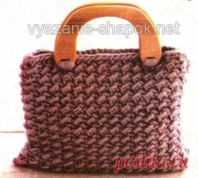 00365bd08722 Как связать сумку крючком — модель для начинающих | Вязание Шапок Спицами и  Крючком